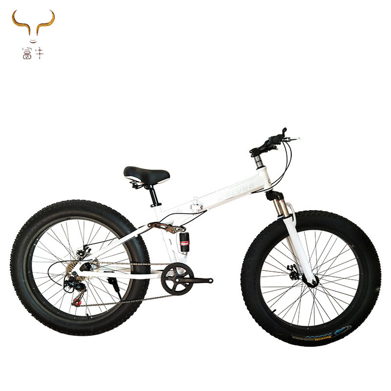 Factory wholesale 26 Inch Beach Bike Fat Tire Snow Mountain Bicycle with folding frame Cheap big tire MTB bike high quality sale