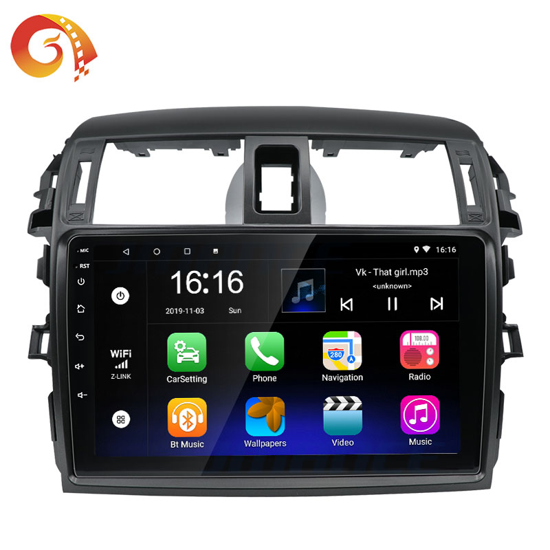 9 Inch Car Video Dvd Player Dashboard Radio Stereo Android Multimedia For Toyota Corolla 2008 2009 2010 2011