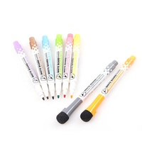 GXIN High Quality MultiColor Cute Shape Strong Magnetic White Board Pen With Eraser