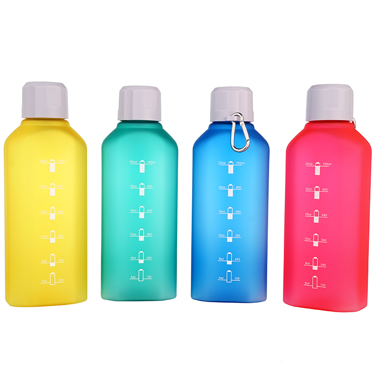 wholesale 700ml/23oz colours plastic military kettle soft touch water bottle with mountain buckles and containing mark