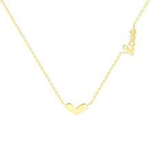 Fashionable girly love chain heart initial charm necklace gold plated initial pendant necklace
