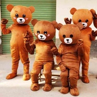 Enjoyment CE Adults brown emoji bear Mascot Costume halloween costumes For sale