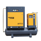 Industrial Silent Oil Free 5.5KW 7.5KW 11KW 15KW Screw Air Compressor With Air Tank And Dryer Mounted