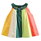 Mudkingdom indian kids clothes smocked girls round collar sleeveless dress