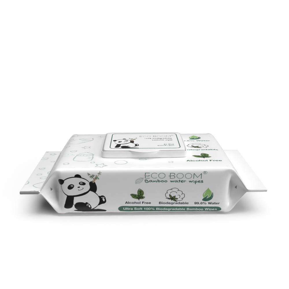 100% bamboo fiber biodegradable wholesale organic antibacterial baby wipes baby wet wipes