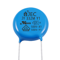 Wholesale Safety Electronic Components AC y1 500v 332 Ceramic Disc Capacitor