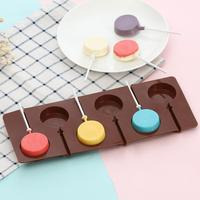 Round Lollipop Silicone Chocolate Mold Fondant Soap Jelly Candy Ice Cookie Biscuit Mould DIY Baking Tools Cake Decorating Molds