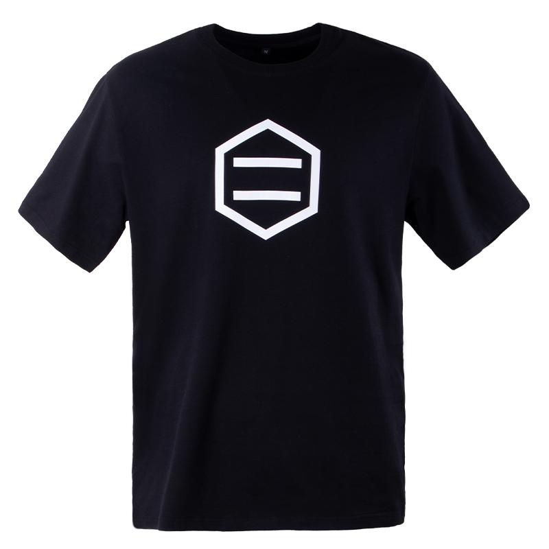 custom men's 100% cotton black printing t shirt