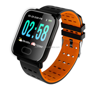 2019 Cheap 5$ IP67 waterproof blood pressure smartwatch A6 smart watch with heart rate and calls message reminder