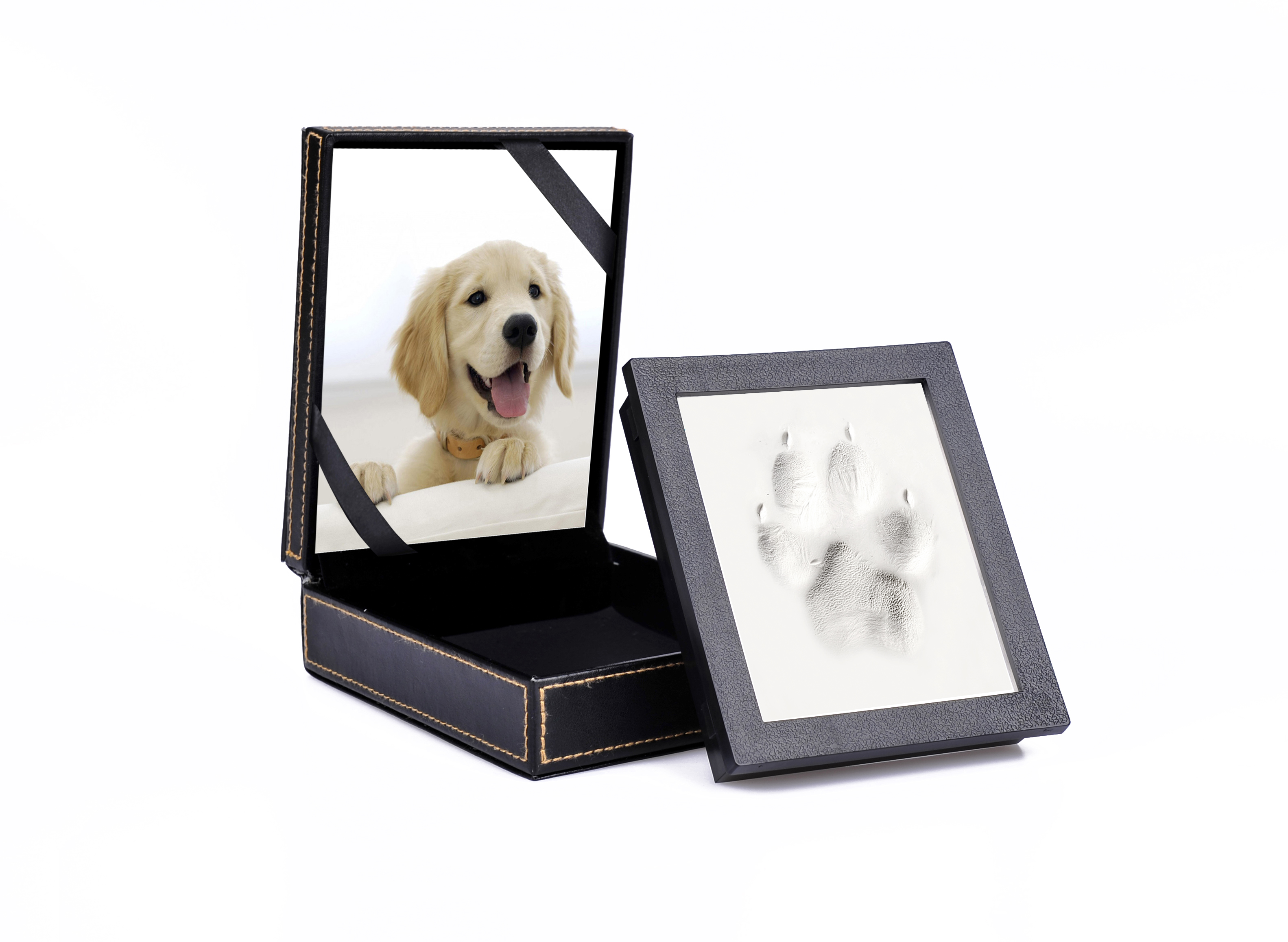 Pet Picture Frame and Paw Print Kit, Perfect Keepsake Gift for Pet Owners, Great For Dog or Cat Paws Print Clay Kits