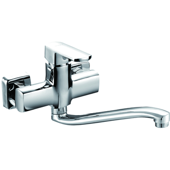 (OB8215-13S)Boou high quality new design single lever wall mounted brass kitchen wall sink mixer faucet tap