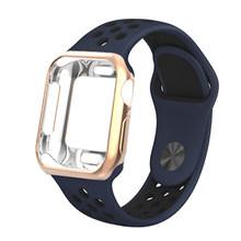 Чехол + ремешок для Apple Watch pulseira, apple watch 5, 4, 3, 44 мм/40 мм, iwatch band cover, 42 мм/38 мм, браслет для часов correa(Китай)