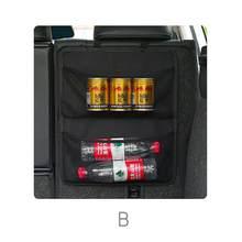 Качественный тканевый подвесной сетчатый мешок для багажника автомобиля, вместительный Регулируемый сетчатый Органайзер, автомобильный к...(Китай)
