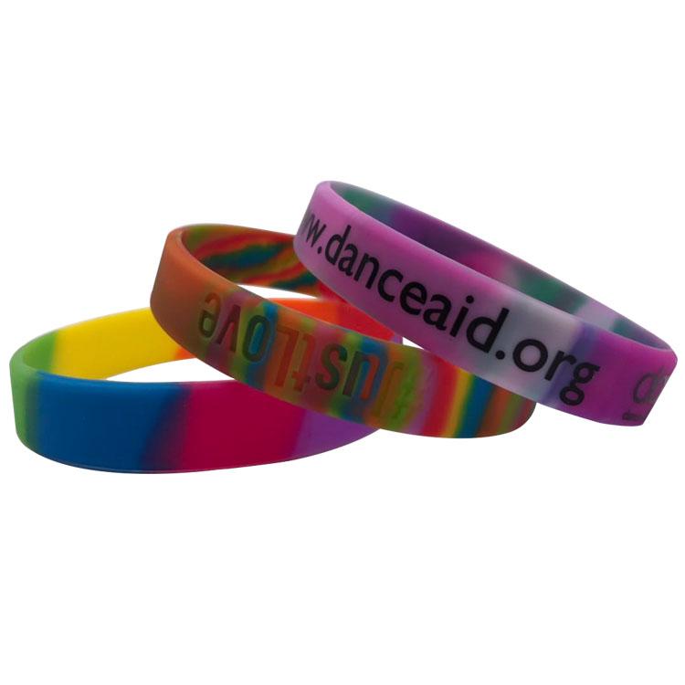 Amazon hot sale Silicone sport bracelet Fashion sport wristband Custom embossing customization