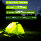 Solar Energy Solar 2021 Energy System X-1000 Li-ion NCM Polymer 1000 Max Portable Power Station