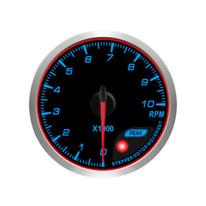 60mm CR 7 / 10 color tachometer with peak and warning