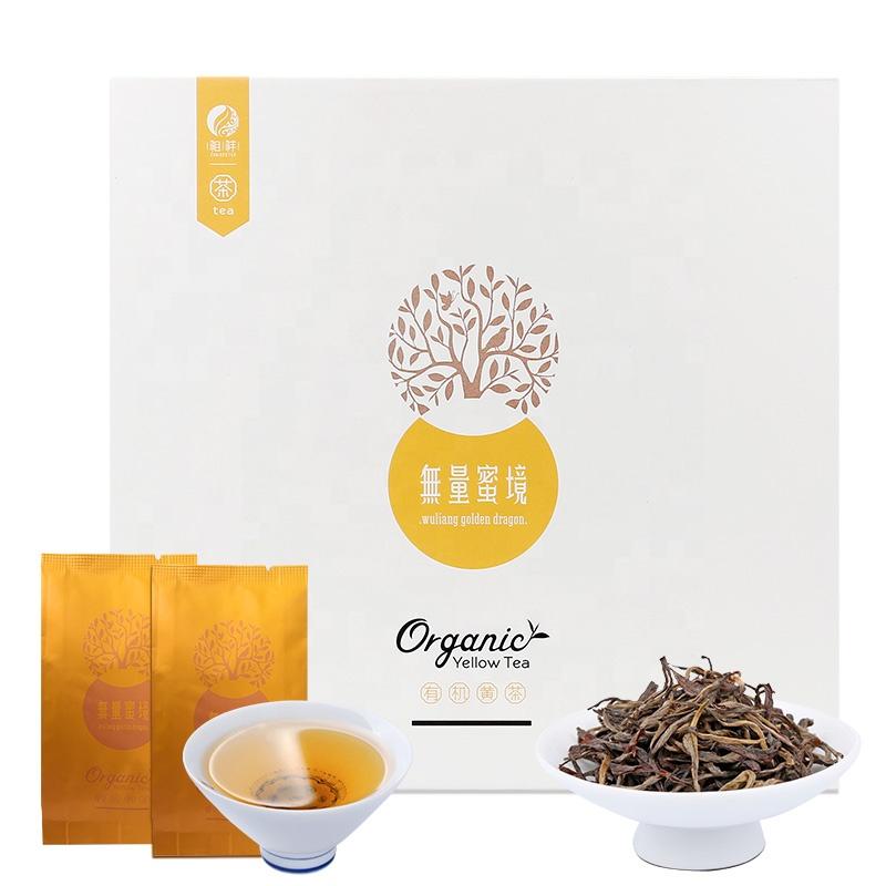 Yunnan Wuliang MiJing Luxury Gift Box Packaging 5g Each Bag Easy Carry Travel Packing Holiday Gift Organic Bagged Yellow Tea - 4uTea   4uTea.com