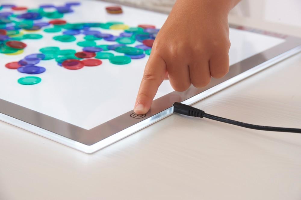 Vorschule Kinder Sensorischen Tragbare Licht Rechteckigen Kunst Und Handwerk Tisch Für Kinder