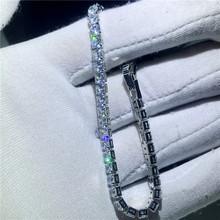 Роскошный Теннисный браслет с цепочкой, 6 видов, AAAAA, белое золото, массивные вечерние свадебные браслеты для женщин и мужчин, ювелирное изде...(Китай)