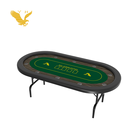 YH casino quality waterproof oval texas poker table top with folding legs for gambling