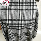 wholesale wool poly blend tweed plaid tartan yarn dyed wool fabric for coats