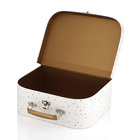 Handmade paper baby toy mini suitcase box baby cloth packaging cardboard suitcase tool box