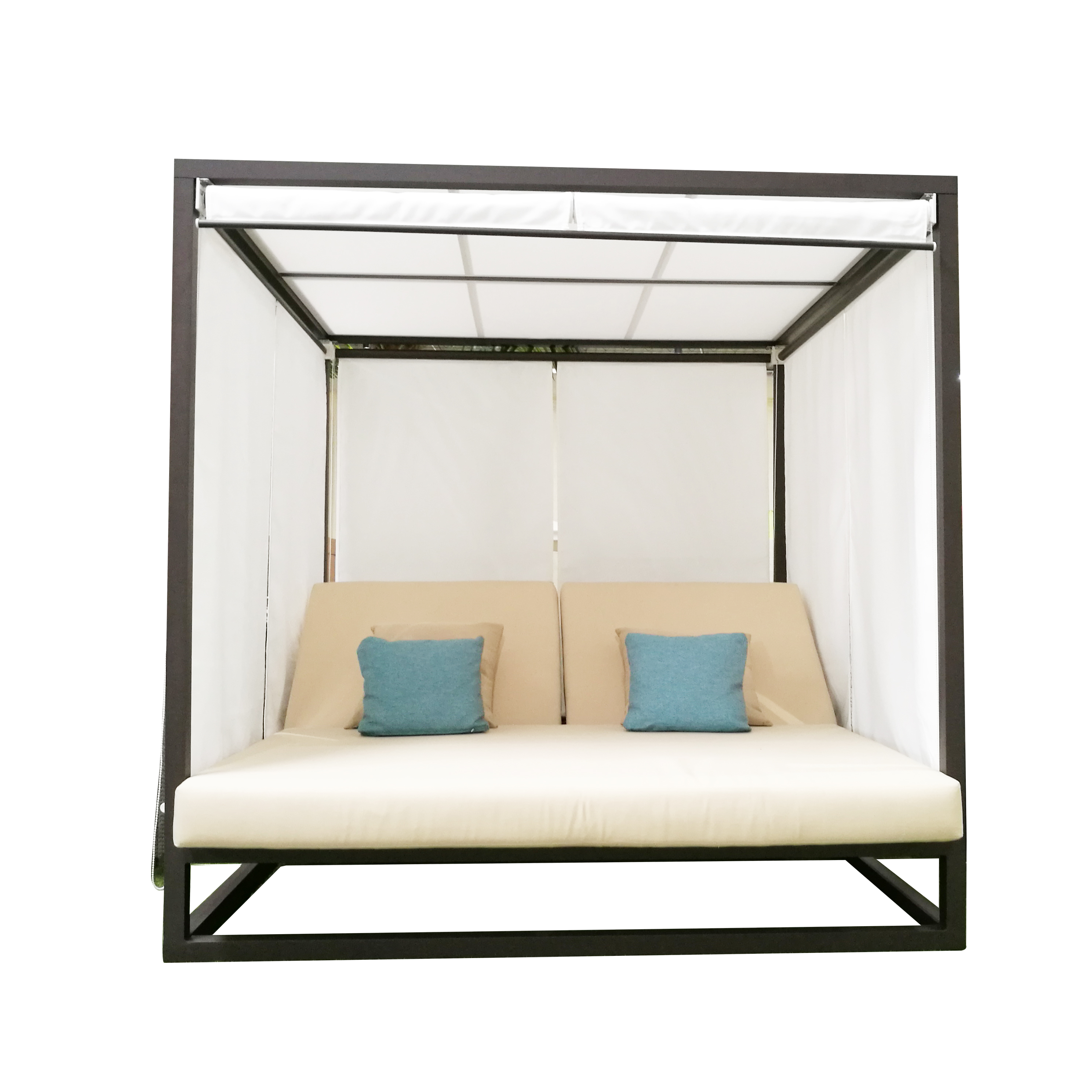 - White Aluminum Outdoor Patio Furniture Canopy Bed For Hotel - Buy