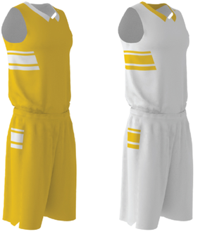 Custom your own team basketball uniforms reversible basketball jersey set