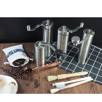 Best price portable conical burr hand bean grinder coffee, High quality wholesale stainless steel manual mill coffee grinder