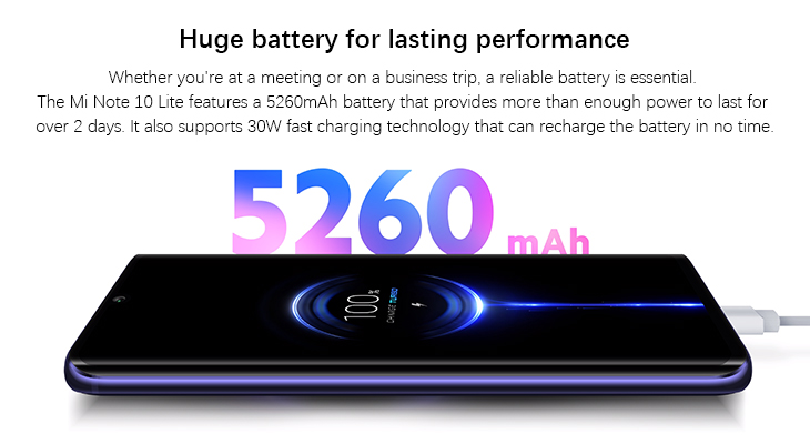 Xiaomi mi note 10 lite Global Version 6GB 64GB Snapdragon 730G 6.47 inch Screen 64MP Camera 5260mAh Battery NFC Mi Smartphone