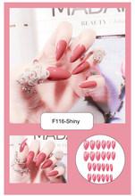 Anztilam 24 шт. накладные ногти матовые длинные кончики для 30 матовых и блестящих чистых цветов хип-хоп поддельные ногти(Китай)