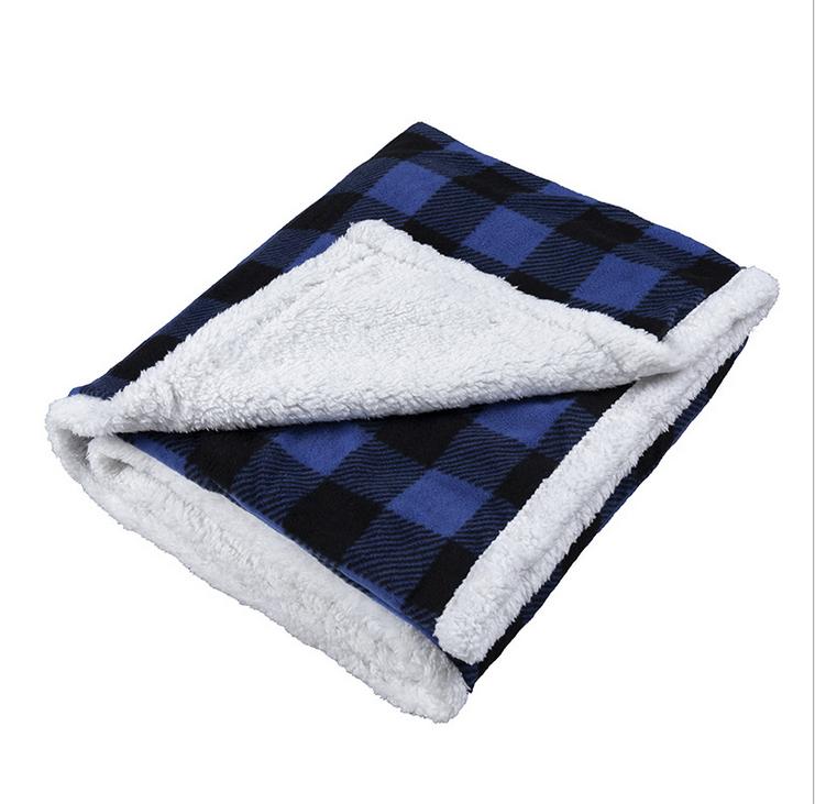 Hot sale digital print two sides 2 ply polar fleece blanket for winter
