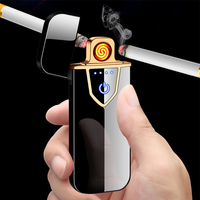 2020 newest custom color flame heat wire mini electric usb cigarette lighter