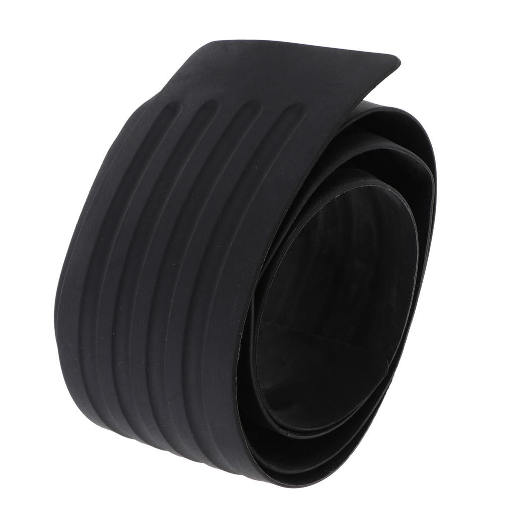"35/"" Flexible Car Rear Guard Bumper Pad Rubber Suff Plate Protector w//Red Trim"