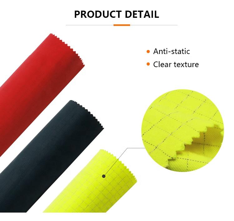 flame resistant protex Modacrylic fiber Cotton antistatic blended yarn 60% modacrylic woven fabric
