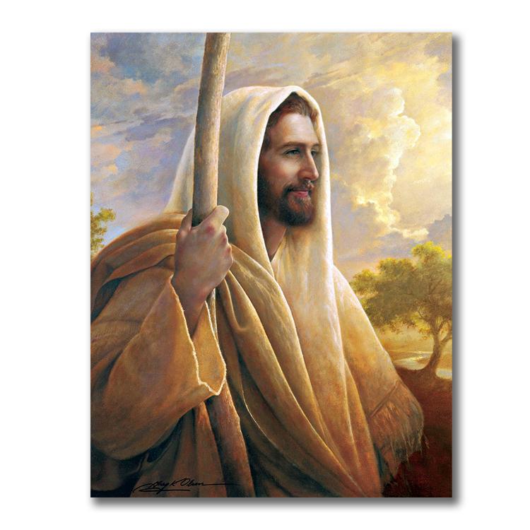 אישית סלון אמנות יצירות אמנות ישו הנוצרי פוסטר ציור בד קיר תמונות של סט