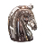 High quality Elegance Stainless steel animal artwork horse sculpture