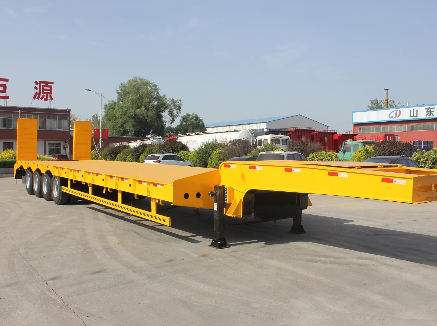 China Factory New Design Durable 100 Ton Lowboy Trailer