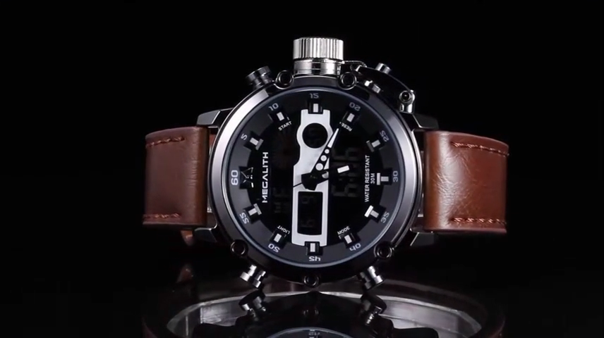 2020 izle erkekler MEGALITH üst marka lüks spor Chronograph su geçirmez İzle erkekler siyah deri kayış saat adam Relojes Hombre
