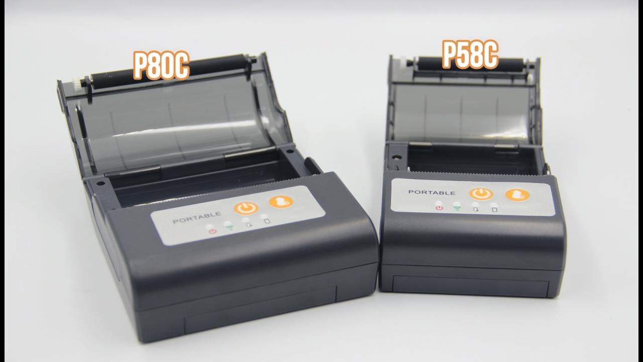 Printer Termal Portabel Mini Bluetooth, Printer Portabel Bluetooth Mini POS 58Mm