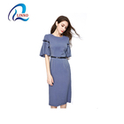 100% Polyester O-Neck autumn casual smocking girls' birthday party dress