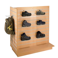 Hot sale shoe store display rack solid wood shelf, Custom shoe store shelf display cabinet rack
