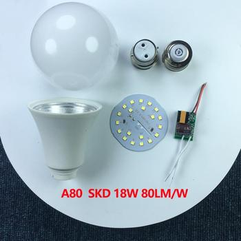 E27 B22 Uncompleted Product Cheap LED Light Bulb Parts Plastic Spare part SKD CKD LED Bulb Raw Material led buld skd