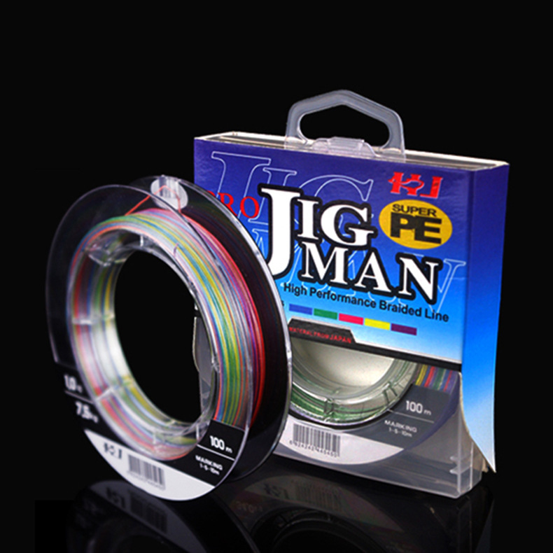 high quality japan colorful 100m <strong>PE</strong> 4x fishing line