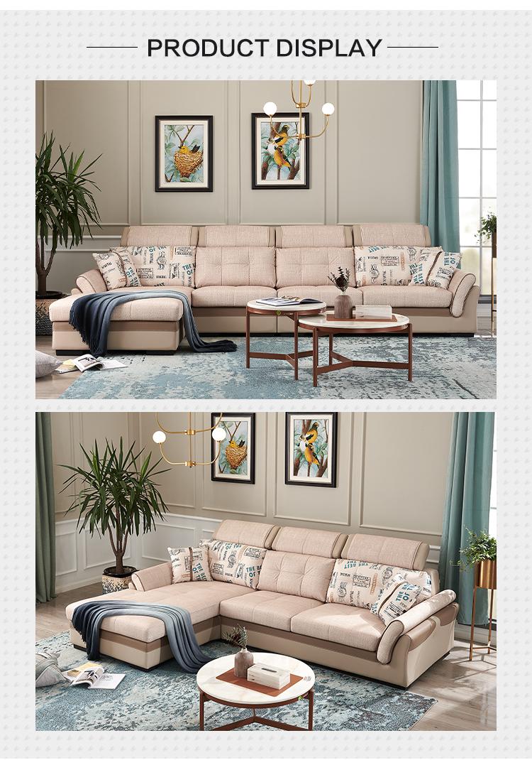 102105  Furniture factory provided modern design living room furniture fabric sofa sets
