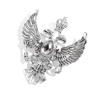 2020 Fashion Jewelry Classic Retro Unique Eagle Crown Gifts Wholesale Charm Crystal Brooches For Mens Accessories