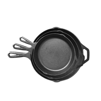 Best whole cast iron pre-seasoned kitchen cooking ware non stick skillet frying pans