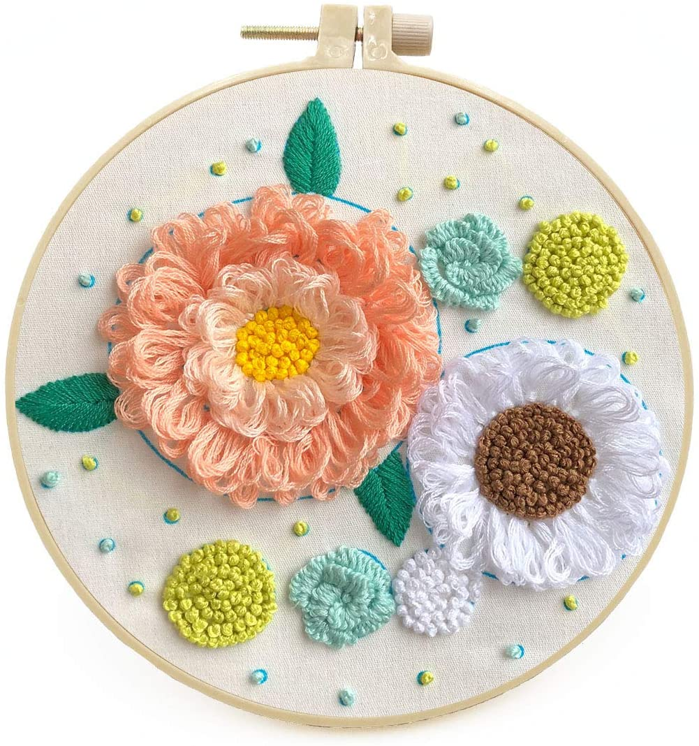 2020 Wholesale New Arrival Punch Needle Cross Stitch Kits Embroidery Set Beginner