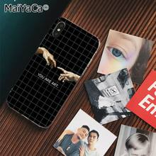 MaiYaCa Давид Finger Art Эстетическая рука создание телефона чехол для Apple iphone 11 pro 8 7 66S Plus X XS MAX 5S SE XR чехол(Китай)