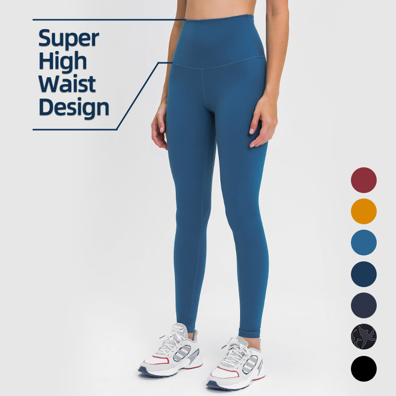 Newest 13cm Super High Waist Women Yoga Leggings Full Length High Quality Align Yoga Pants Workout Fitness Gym Wear With Pocket
